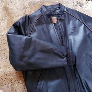 100% real Leather Bomber Jacket